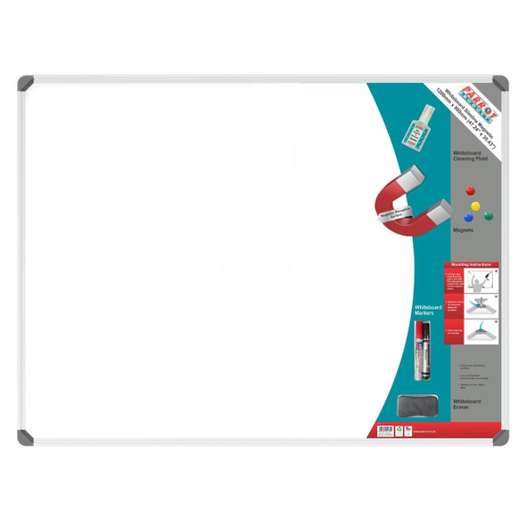 Slimline Magnetic Whiteboard 1200900mm - Retail
