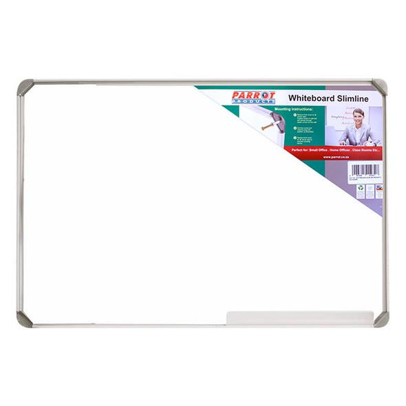 Slimline Non-Magnetic Whiteboard 900900mm