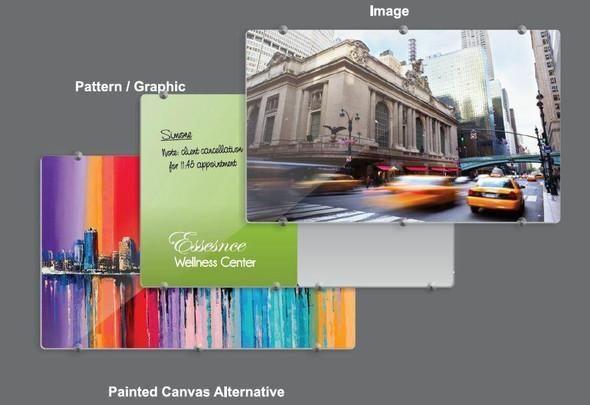 Glass Board Designer Series Magnetic Custom Printed 900x900mm