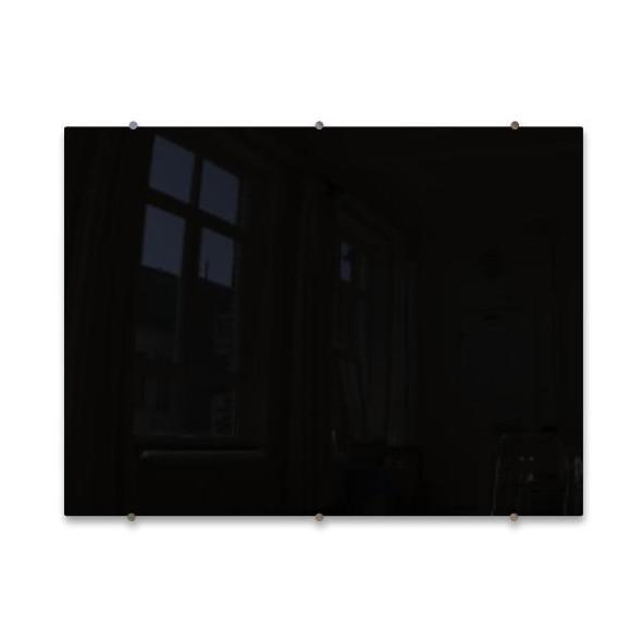Magnetic Glass Whiteboard Black - 1200x900mm