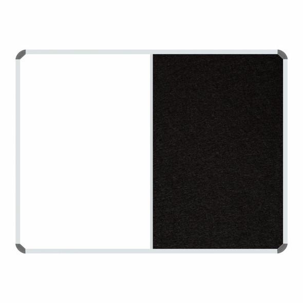 Non-Magnetic Combination Whiteboard 1200900mm - Black Felt