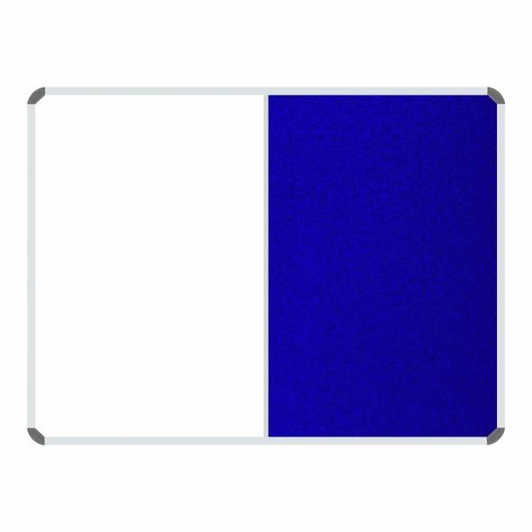 Non-Magnetic Combination Whiteboard 1200900mm - Royal Blue Felt