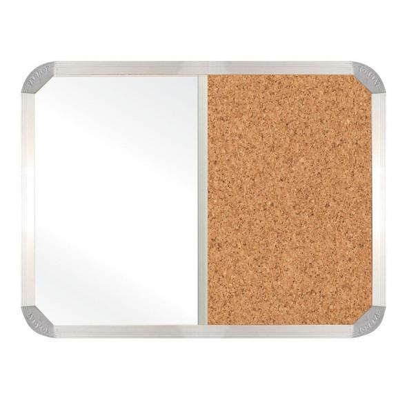 Non-Magnetic Combination Whiteboard 1200900mm - Cork
