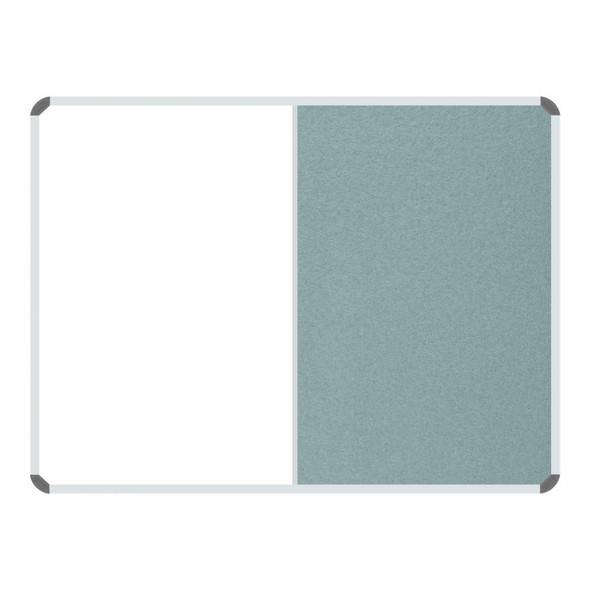 Non-Magnetic Combination Whiteboard 1200900mm - Grey Felt