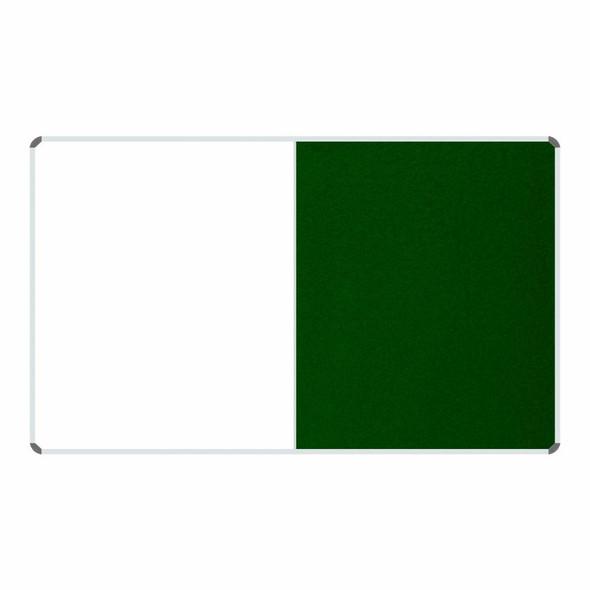 Non-Magnetic Combination Whiteboard 20001200mm - Green Felt