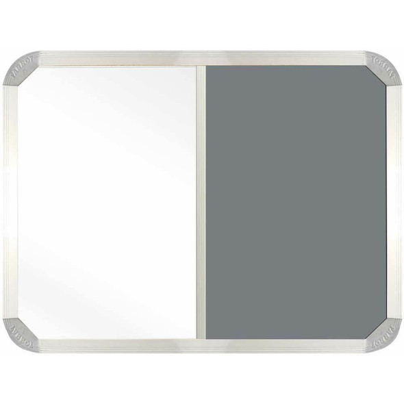 Non-Magnetic Combination Whiteboard 900600mm - Grey Felt