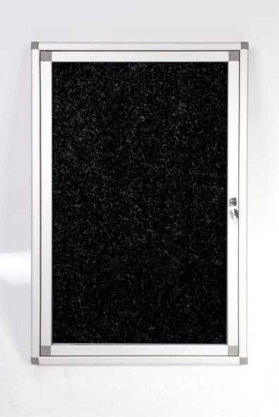 Hinged Pinning Display Case 900600mm - Black