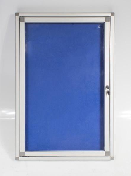 Hinged Pinning Display Case 900600mm - Royal Blue