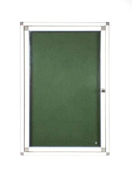 Hinged Pinning Display Case 900600mm - Green
