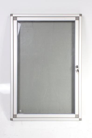 Hinged Pinning Display Case 900600mm - Grey