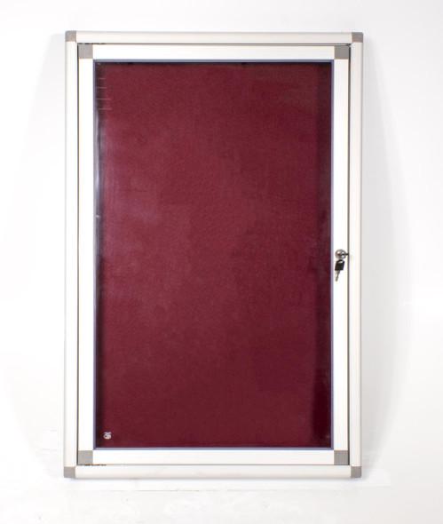 Hinged Pinning Display Case 900600mm - Burgandy