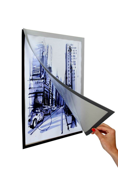 A3 Magnetic Self Adhesive Poster Frame 440320mm
