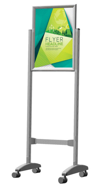 Poster Frame Stand A0 - Double Sided - Castors