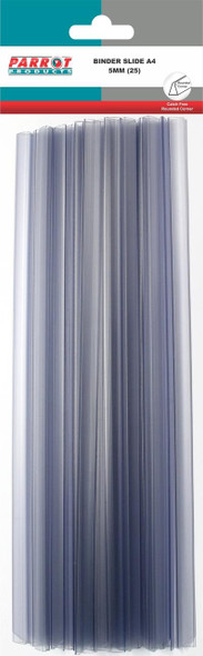25 Slide Binders A4 - 297 x 5mm - Clear