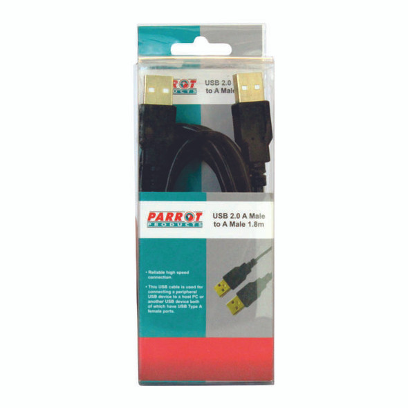 USB 2.0 A Male to A Male Cable 1.8 Meters