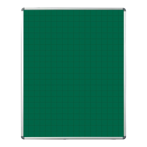 Educational Board Magnetic Chalkboard 1220920 - Grey Squares - Side Panels - Option A
