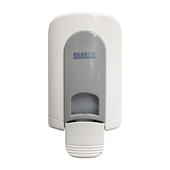 Janitorial Wall Mounted Soap Dispenser Manual - 500ml - White/Grey - Gel Pump