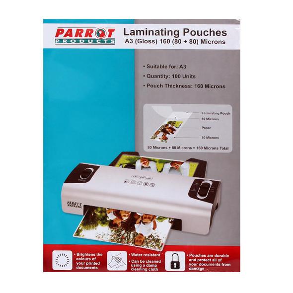 Laminating Pouches A3 - Gloss - 305x426mm - 160 8080 Microns - Box 100