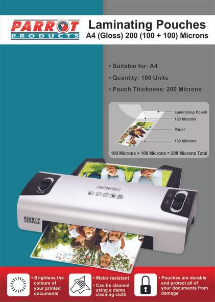 Laminating Pouches A4 - Gloss - 220x310mm - 200 100100 Microns - Box 100