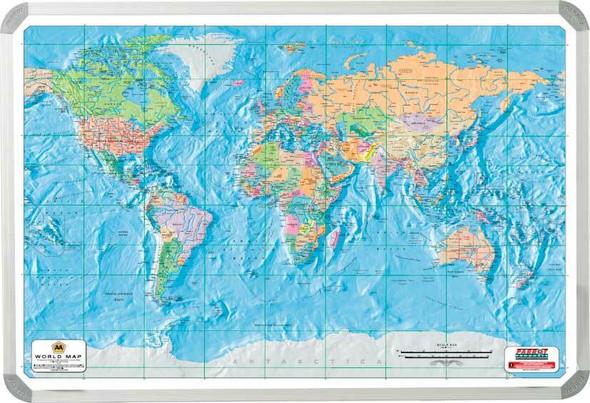 World AA Map 1200900mm