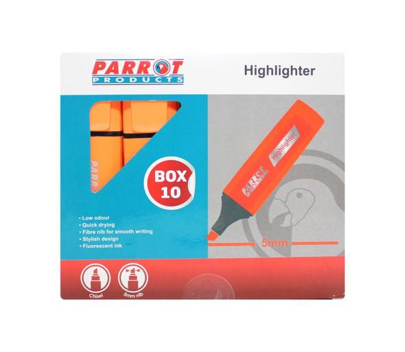 Highlighter Marker Box 10 Markers - Orange