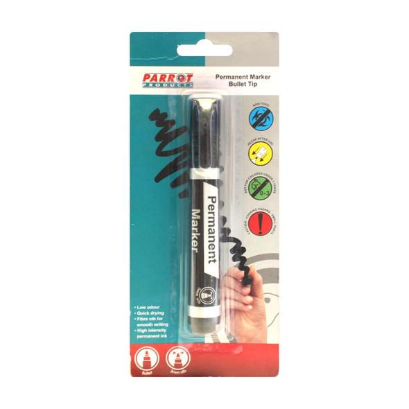 Permanent Marker Bullet Tip - Carded - Black