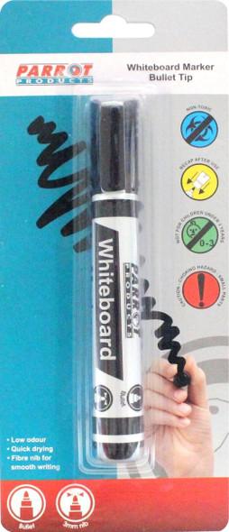 Whiteboard Marker Bullet Tip - Carded - Black