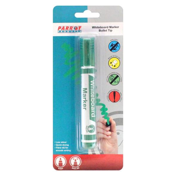 Whiteboard Marker Bullet Tip - Carded - Green