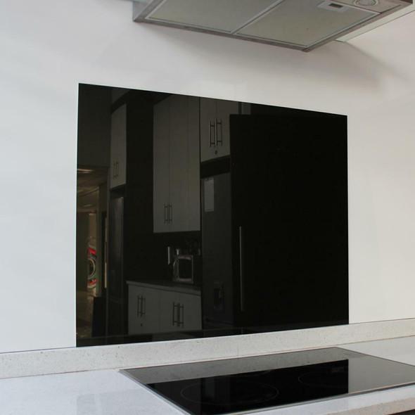 Metallic Black Hob Splashback 898 x 700 x 6mm
