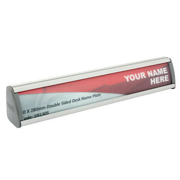Double Sided Desk Name Plate Sign Frame 28050mm