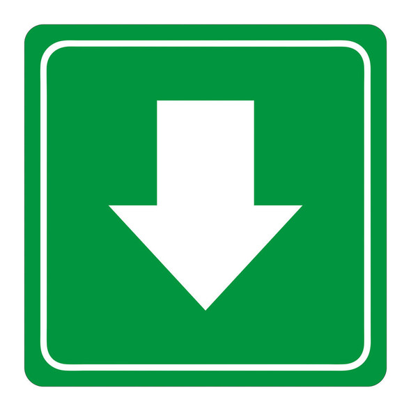 Green Arrow Symbolic Sign - Printed on White ACP 150 x 150mm