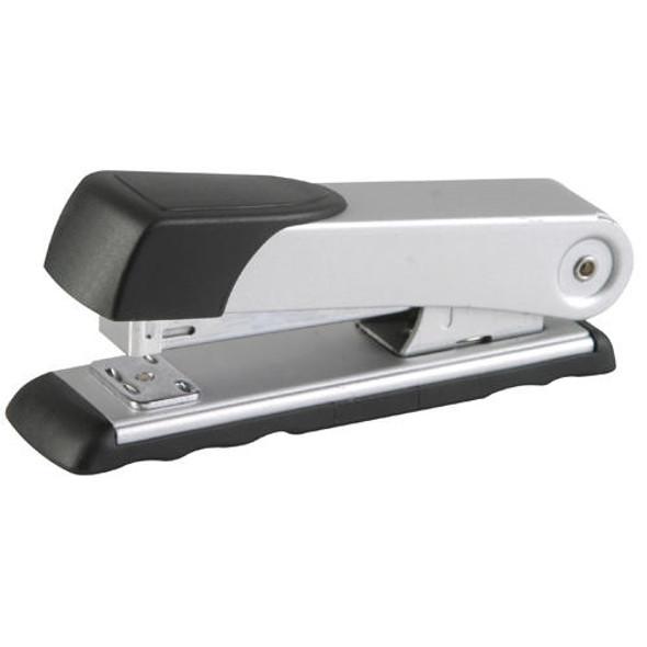 Desktop Steel Stapler Medium 10524/6 26/6 Silver 20 Pages