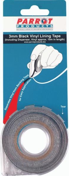 Vinyl Lining Tape 10 Meters - 3mm - Red
