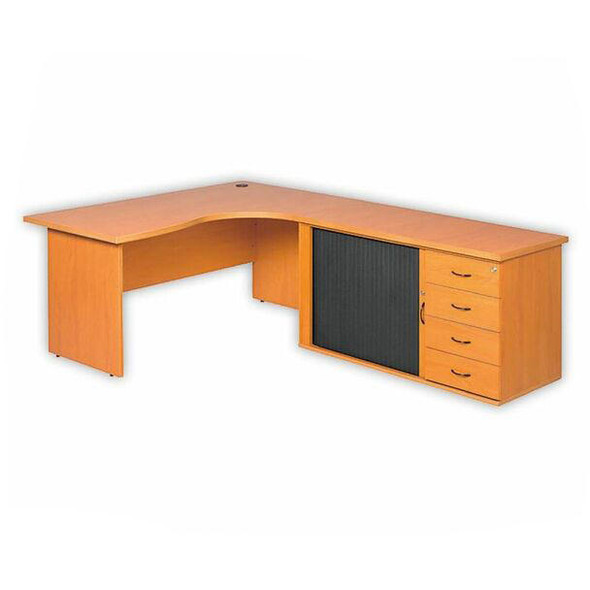 Cluster Desk with Panel Legs and Pedenza