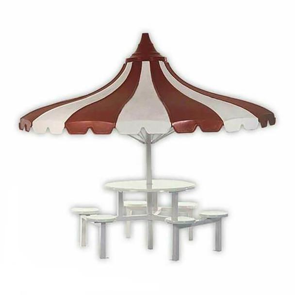 Umbrella Canteen Table Seating Set