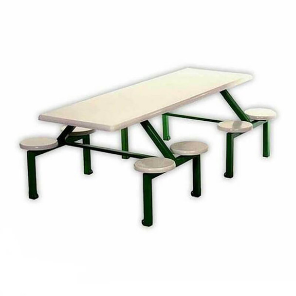 Canteen Table Eight Seater Rectangle Stool Set