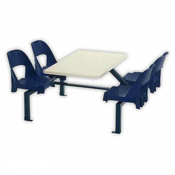 Canteen Table Four Seater Rectangle Alpine Set