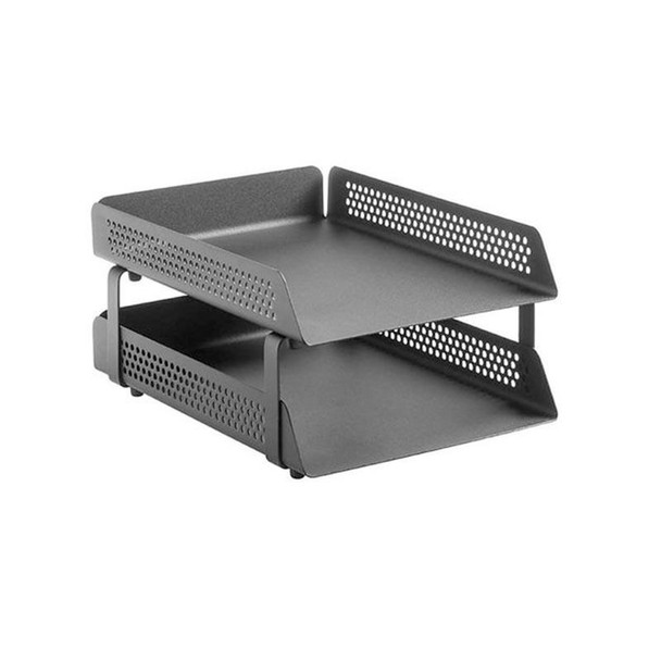 Perforated Steel Letter Tray 2-Tier