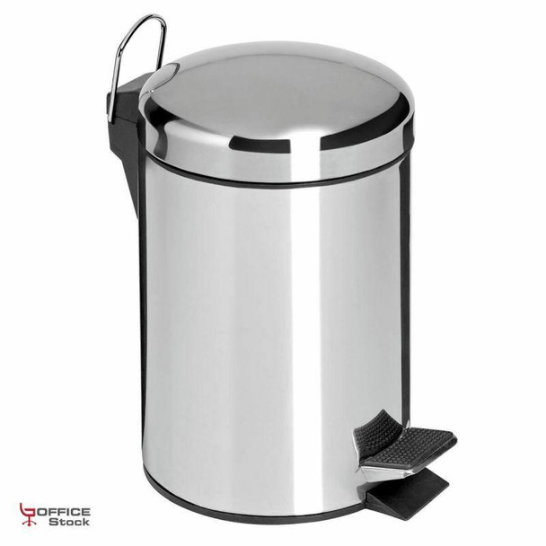 3 Liter Pedal Polished Bathroom Bin