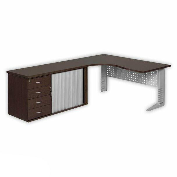 Cluster Desk with Steel Legs and Pedenza