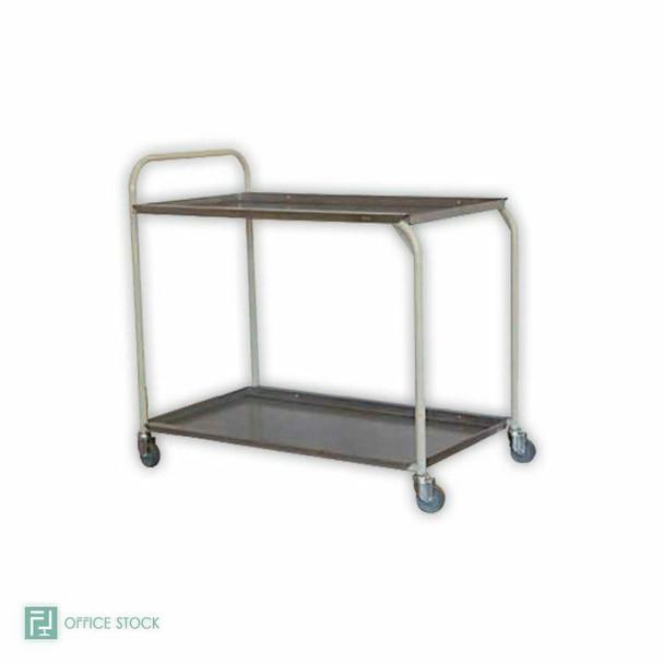 Stainless Steel Two Tier Tea Trolley