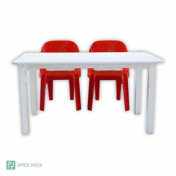 Rectangular Melamine Table with Cradle Stand