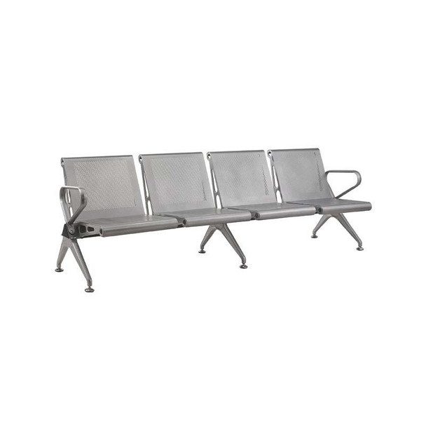 4-Seater New Chrome Delux Airport Bench