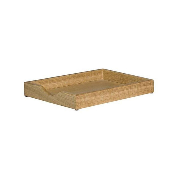 Executive Solid Wood Letter Tray Single