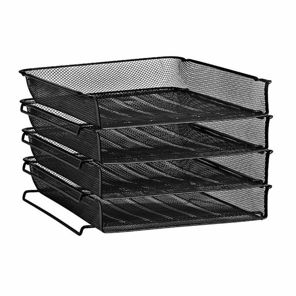 Wire Mesh Letter Tray 4 Tier