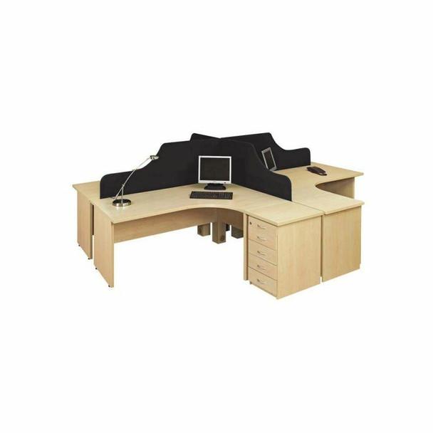 Value Cluster 4 Way Desk