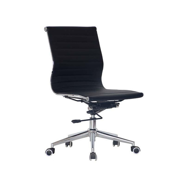 Classic Eames Medium-back Chair No Arms