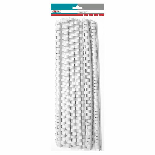 Plastic Binding Comb Element 60 Sheet - 10mm - White - 25 Combs