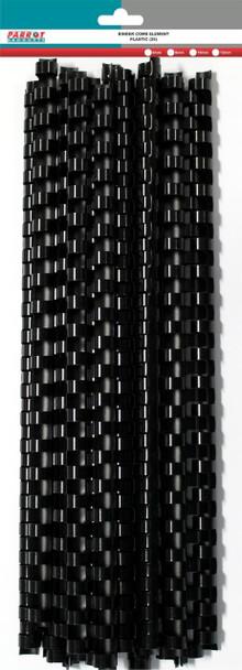 Plastic Binding Comb Element 90 Sheet - 12mm - Black - 25 Combs