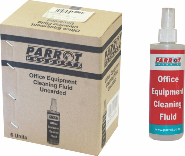 Office Equipment Cleaning Fluid 250ML Uncarded Box of 6
